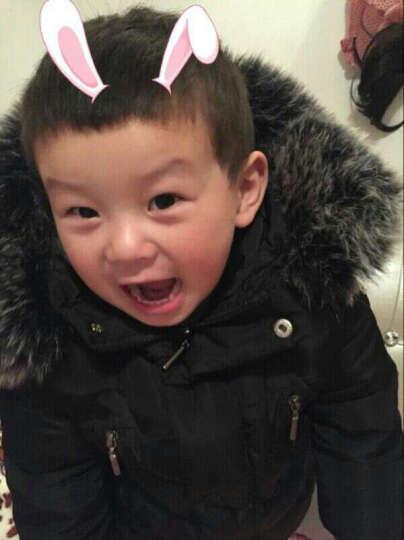 呵铛猫童装男童棉衣女童棉袄2-3-4-5-9周岁小孩子衣服2017儿童冬装外套短款棉衣 G字短款棉衣蓝色 150 晒单图