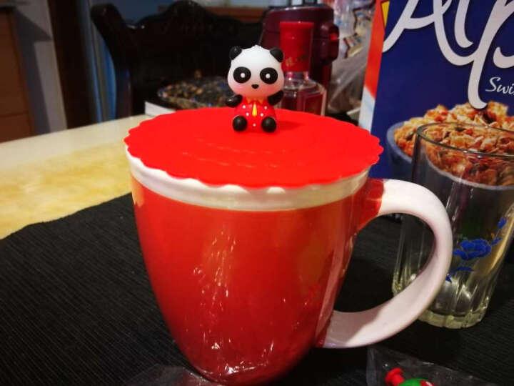 杯盖 硅胶杯盖 卡通  防漏硅胶杯盖子水杯子马克杯杯盖 杯盖颜色随机发货 款式随机混发 约10.4CM 晒单图