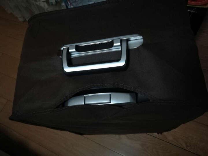 第九城(V.NINE)拉杆箱 万向轮行李箱登机旅行箱 静音万向轮 TSA海关锁 蓝紫-铝框箱(款式随机发货) 20英寸(特价清仓) 晒单图