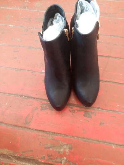尖头细跟女鞋 套脚纯色鞋子女 防水台女鞋子 34-40 黑色 39 晒单图