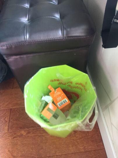 加品惠 垃圾桶 钻石型卫生桶纸篓桶两只装JY-0639 绿色 晒单图