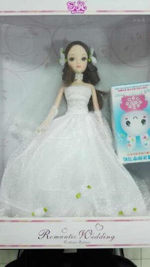 可儿(kurhn) 婚庆玩偶可儿娃娃浪漫婚纱新娘婚车装饰女孩玩具 9103【佳期有约】 14关节体/送婚纱+手捧花 晒单图