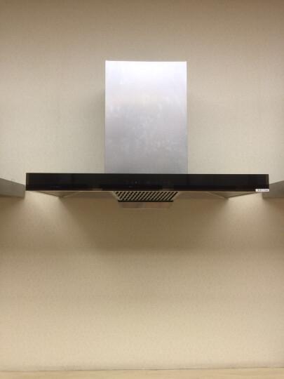 方帅(FOSHUAI)体感大吸力顶吸式油烟机两件套欧式 抽油烟机灶具套装 包邮 黑色 天然气 晒单图