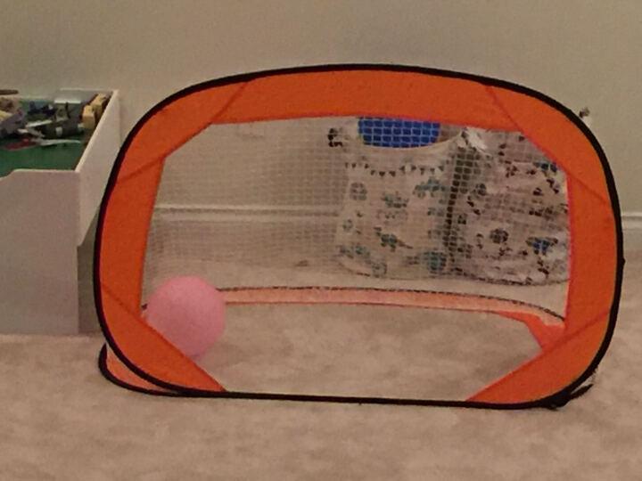 儿童足球门室内户外家用可移动折叠便携足球架 桔色 晒单图