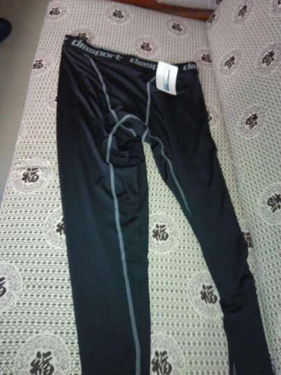 雷迪豹(Leidibao)紧身裤男运动丝袜速干篮球打底裤弹力压缩长裤 黑色普通款 XL 晒单图