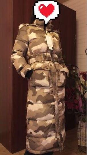 艾斯六佰2017女装新款冬季毛领保暖迷彩羽绒服女中长款过膝修身超长款外套 迷彩色 S 晒单图