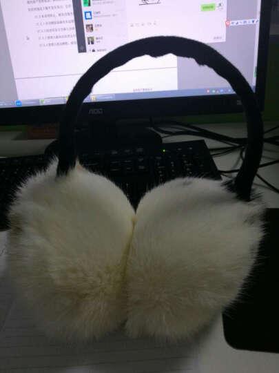 维优净 耳罩保暖男女冬季可调节护耳套 草黄(兔毛) 晒单图
