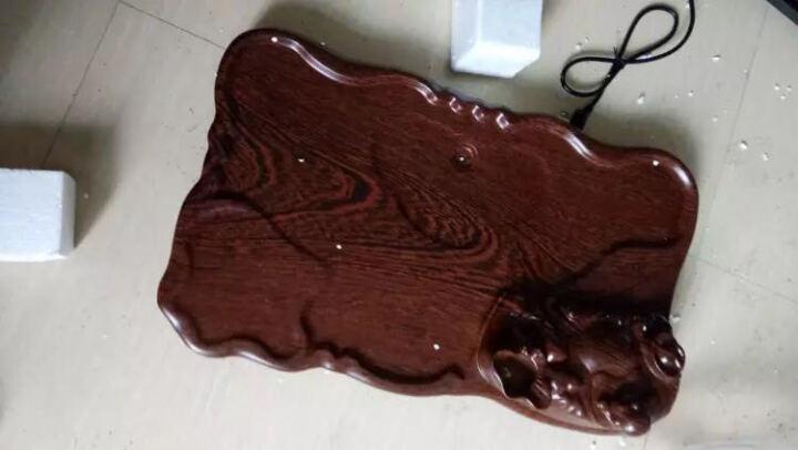 甲馨 陶瓷紫砂青瓷功夫茶具套装 茶壶盖碗茶杯整套 实木科技木茶盘电热炉 20-原木色马盘朱泥紫砂套装 晒单图