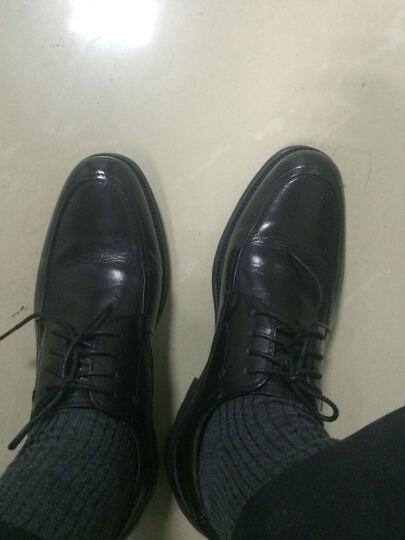圣大保罗皮鞋男真皮商务休闲鞋英伦男士皮鞋系带正装男鞋 黑色 39码 晒单图