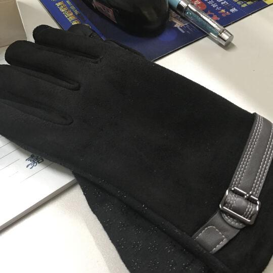 外滩故事触摸屏电容屏触摸 保暖时尚不倒毛手套女冬季新款 Ma-31黑色 晒单图