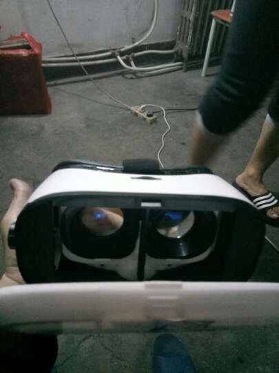 leapower 彩绘VR虚拟现实3D眼镜手机智能一体机游戏眼睛 htc三星乐视华为苹果 白色彩绘蓝光镜片+游戏手柄 晒单图