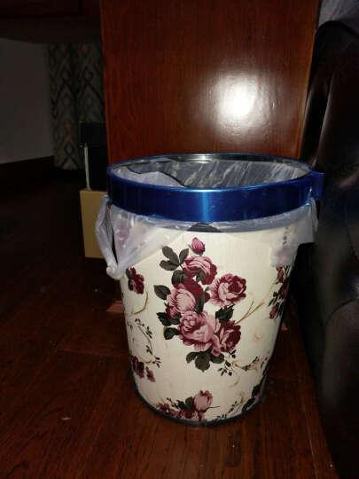 欧式艺术垃圾桶 田园无盖家用办公垃圾桶