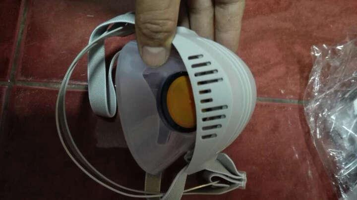 思创  防尘口罩雾霾工业硅胶/橡胶粉尘颗粒物高效防护舒适AG/AX 防尘面罩 橡胶防尘面罩+10片KN95滤芯片 晒单图