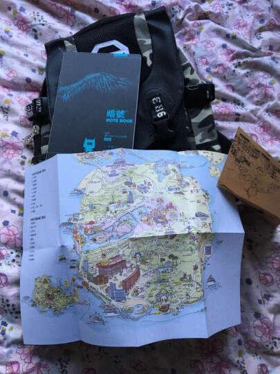 暗号双肩背包个性迷彩帆布大容量休闲运动旅行背包电脑包书包 涂鸦白大号版 晒单图