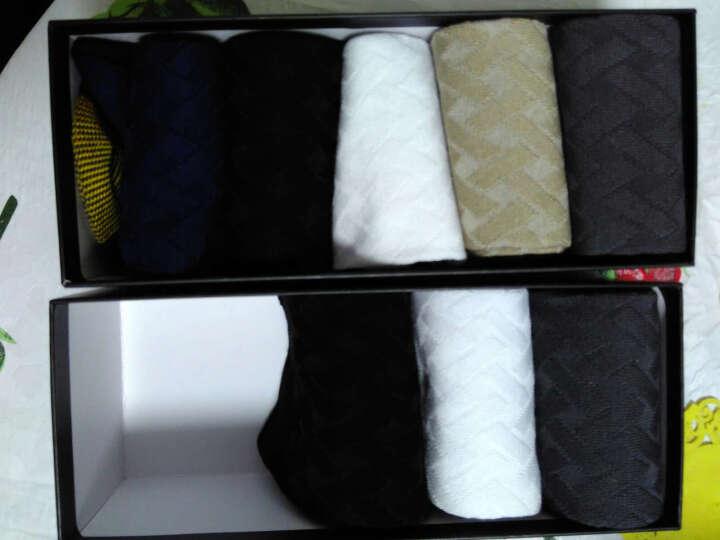 宜帛棉品袜子男士竹纤维袜子中筒男袜吸汗秋冬商务不臭脚男袜礼盒5双装 五色各一 晒单图