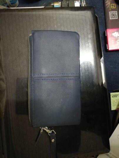 圣马丹顿SEMATANTON 手拿包 商务休闲 柔软牛皮头层牛皮钥匙扣零钱手机包 男女通用 6011-2黑色 晒单图