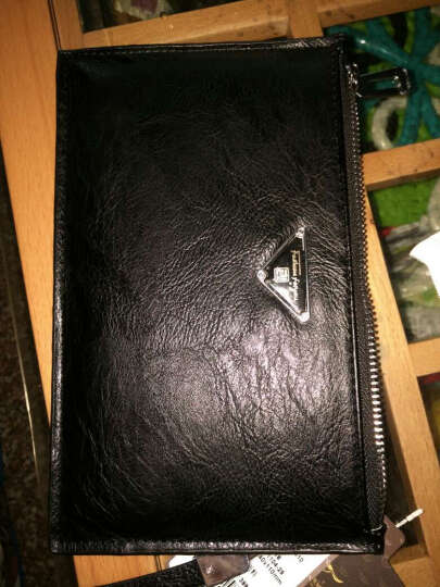 梵士汇(F4Y)JS-4110 男士钱包超薄长款钱包时尚潮流简约商务休闲多功能钱包 黑色 晒单图