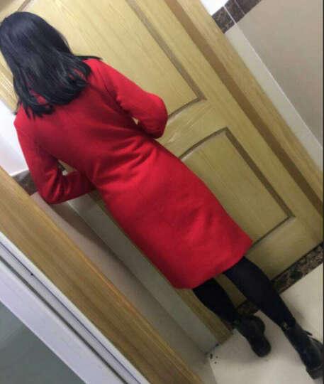 多俏雅毛呢大衣女中长款2018春秋装新款女装毛呢外套女 军绿色 XL 晒单图