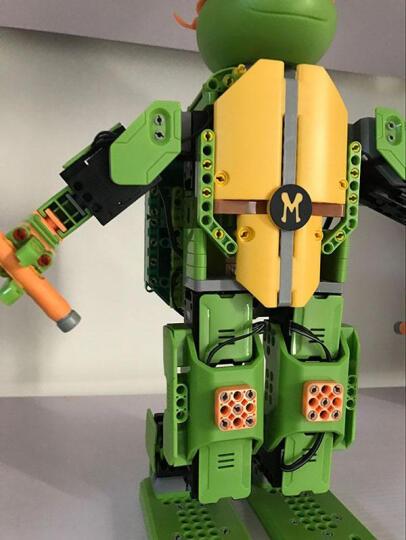 优必选Jimu积木忍者龟智能机器人玩具 儿童益智电动拼装唱歌跳舞互动动作编程遥控机器人 莱昂纳多-APP遥控积木智能机器人 晒单图