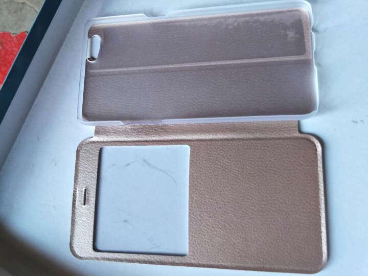 戴为 oppor9手机壳手机套智能翻盖支架皮套保护套防摔男女款 适用于oppo r9 R9Splus-黑色-6.0英寸-视窗款 晒单图