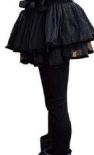 LOVEBBF 2018春款童装 女童打底裤 韩版中小儿童条纹棉裤子 黑色字母 130cm 晒单图