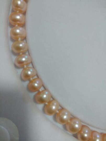 仙妮儿珠宝 淡水珍珠项链 强光亮泽高性价比女款送珍珠耳钉 感恩款 送妈妈送老婆礼物 特饱满7-8mm紫色长度45cm 晒单图