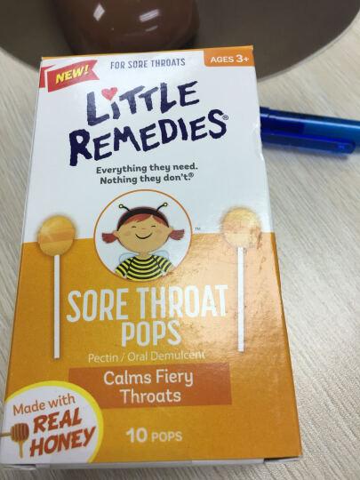 Little remedies 【香港发货】美国蜂蜜止ke棒棒糖天然顺势蜂蜜止喉痛 10支/盒 1盒 晒单图