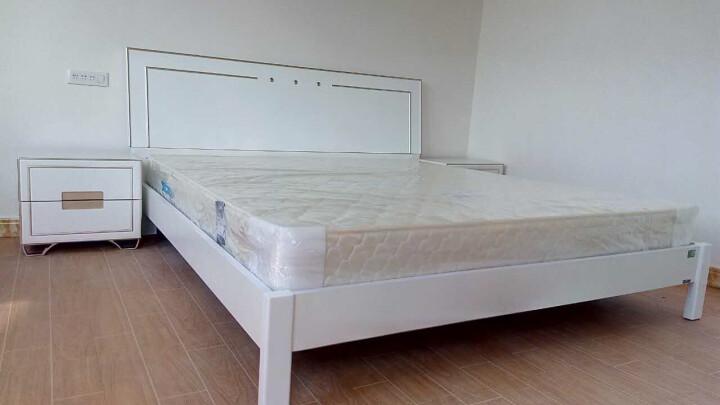 双虎(SUNHOO) 床1.5米1.8米欧式床卧室家具套装组合 新品 15B1 低箱床+床头柜*2+舒梦床垫+15B1四门衣柜 1500mm*2000mm 晒单图