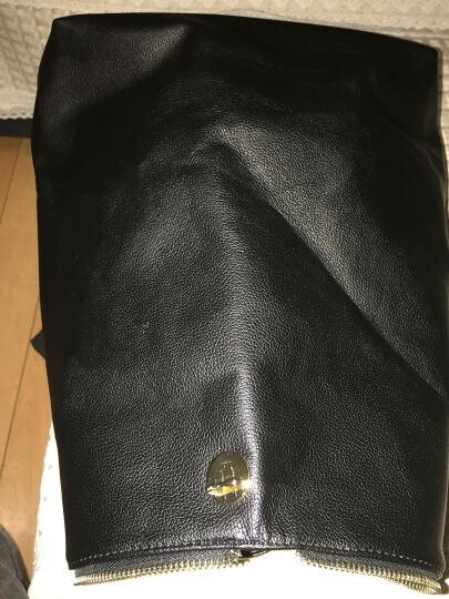 简秀 2018新品时尚真皮背包韩版学院风软牛皮双肩包休闲女士包包A297 果绿色 晒单图