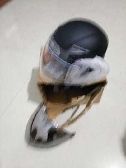 卡丁602夏季电动车头盔男电瓶车安全帽女款防晒四季半覆式个性酷半盔 磨砂黑(单镜片) 配蓝牙耳机(无货) 晒单图