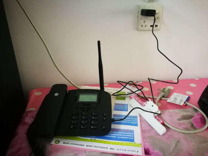 摩托罗拉 无线插卡电话机 FW200LC 电信版支持4G手机卡 无线固话座机 信号好低辐射 黑色 晒单图