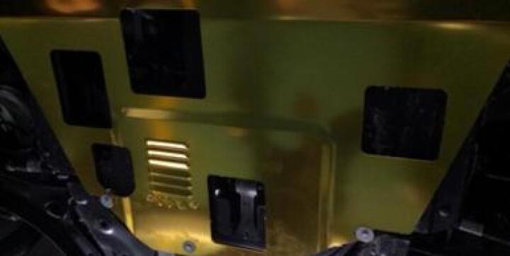 悦泽  汽车发动机护板全包围护板新英朗速腾经典科鲁兹福克斯轩逸改装底盘装甲金属发动机下护板 3D立体----钛合金 (黑色 黄色 随机发货) 长安CS75/CS35逸动致尚XT欧诺欧力威X6 晒单图