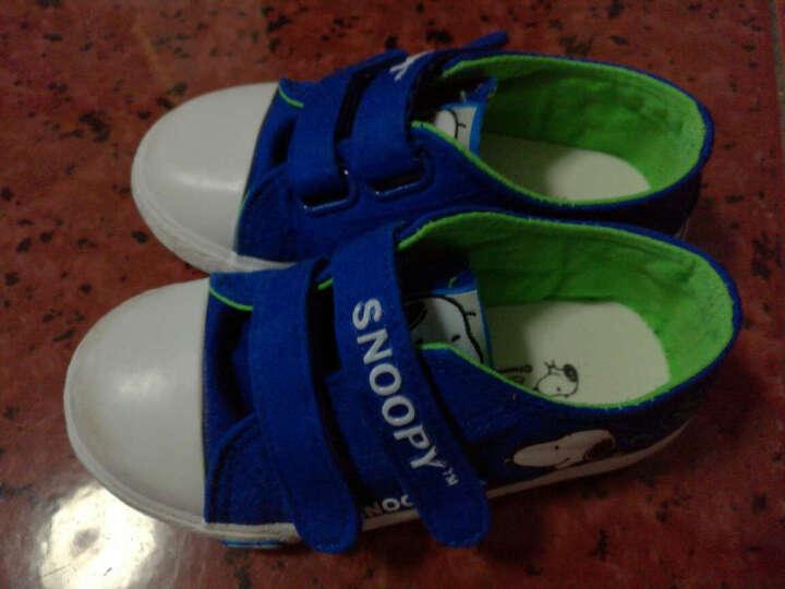 史努比 SNOOPY 儿童帆布鞋 男童休闲板鞋 S6332JD047宝蓝25码 晒单图