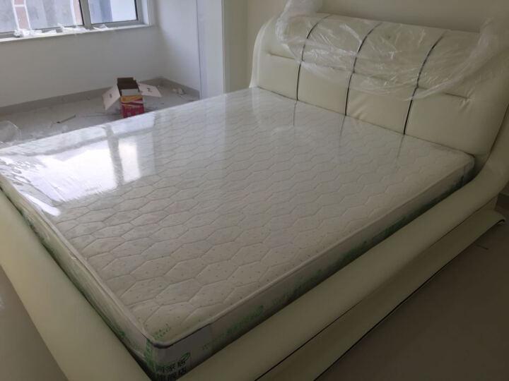 美姿蓝(MZL) 床 皮床 双人床 1.5米床 1.8米床 婚床卧室家具储物床 标准床+天然乳胶床垫+床头柜*1 晒单图