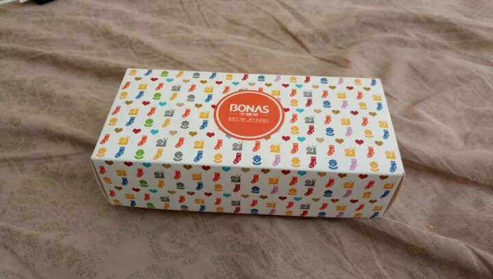 宝娜斯(BONAS)儿童袜子男童女童宝宝棉袜秋冬季保暖袜子5双装  4-6岁  G1605 晒单图