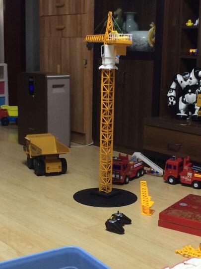 双鹰 遥控车大比例挖掘机工程车方向盘无线充电起重儿童电动玩具汽车生日节日礼物 手柄遥控平板拖车 晒单图