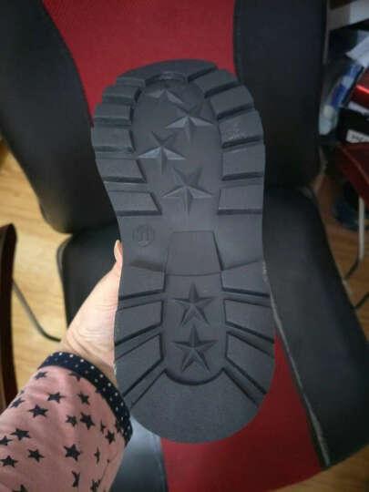 韩卟新款童鞋女童靴子男童皮鞋加绒加厚儿童雪地靴马丁短靴韩版潮 粉红色 加绒 25码/内长15.5厘米 晒单图