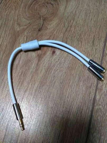 艾菲克(AIFFECT)AE21-SR02 3.5mm音频线一分二公转母 立体声音频转换线 情侣耳机分线器延长线 合金款 银色 晒单图