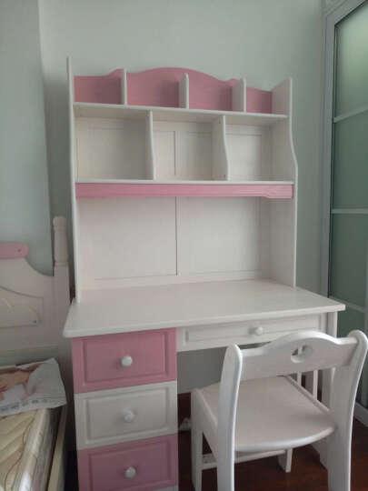 多美居 儿童实木学习书桌 写字台  简约电脑桌 预售 粉红色 学习桌 晒单图