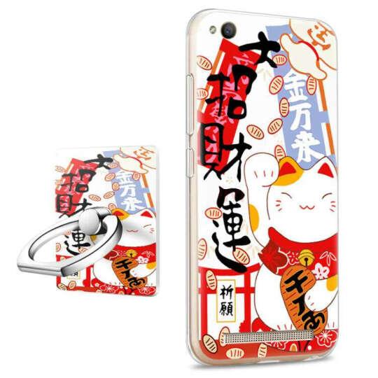 懿真 手机壳 手机套 浮雕彩绘硅胶软套带同款指环支架 适用于新款小米红米4A 学霸笔记+指环支架 晒单图