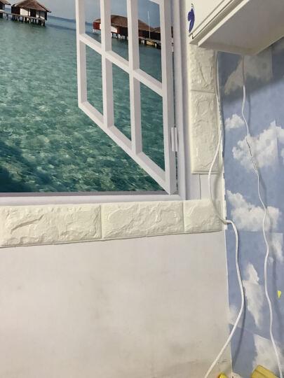 梓晨 壁纸3d立体墙贴创意电视背景墙客厅墙纸自粘贴画卧室装饰防水 浅兰 大号(70*77cm) 晒单图