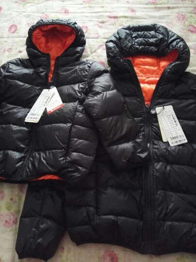 鸭鸭(YAYA) 男童女童保暖加厚亲子装儿童羽绒服 反季清仓 C-5440 芥茉黄 130 晒单图