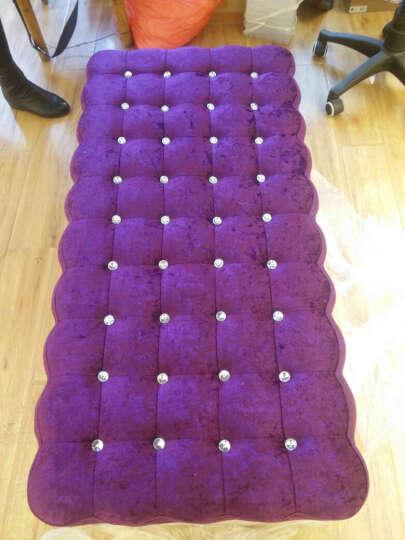 欧式布艺换鞋凳服装店沙发凳长沙发储物凳穿鞋凳沙发凳床尾凳 120*40储物颜色备注. 晒单图