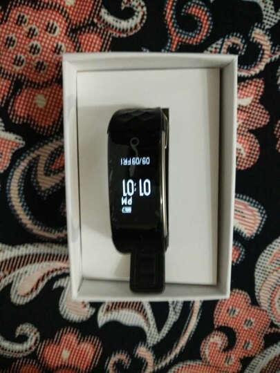 GHUG智能手环心率手表防水运动游泳计步手环微信运动男士带屏幕适配华为苹果小米安卓手环 黑色X9 晒单图