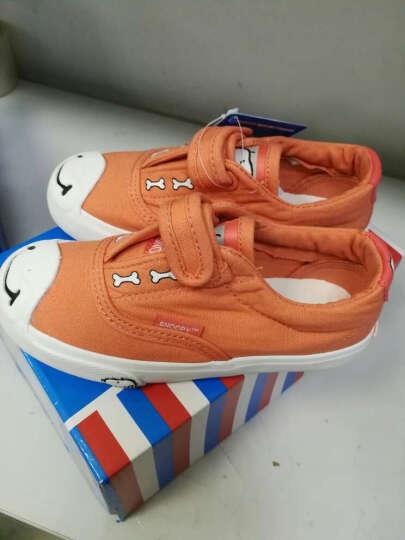 史努比 SNOOPY 时尚休闲鞋 潮流儿童帆布鞋 S6330JD350橙色29码 晒单图