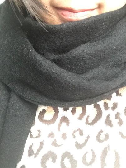 上海故事围巾女秋冬季经典英伦格子羊毛围脖男女情侣款礼盒装 179029红色+浅灰色 二条 晒单图