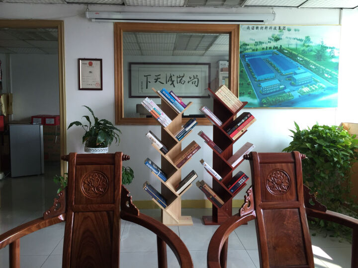 妙饰 简易书架书柜创意树形落地书架桌上小书架层架展示架置物架杂志架 定制联系客服 晒单图