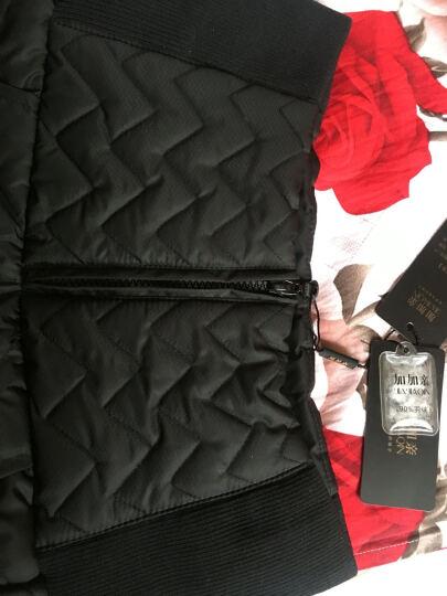加加亲冬季加绒加厚羽绒裤女外穿 高腰弹力加厚棉裤显瘦小脚铅笔裤女裤 藏青 170/L 晒单图