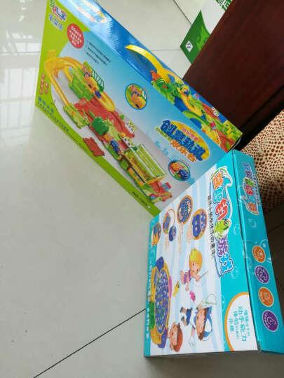 育儿宝 小火车卡通套装电动轨道车儿童玩具汽车 3-4-5-6岁 男孩女孩益智生日礼物 A款创意轨道欢乐谷 晒单图