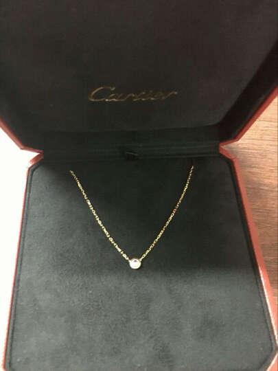 卡地亚Cartier女士彩色珠宝系列项链 镶嵌蓝宝石项链 粉色宝石 蓝色宝石 粉宝石B7218400玫瑰金 晒单图